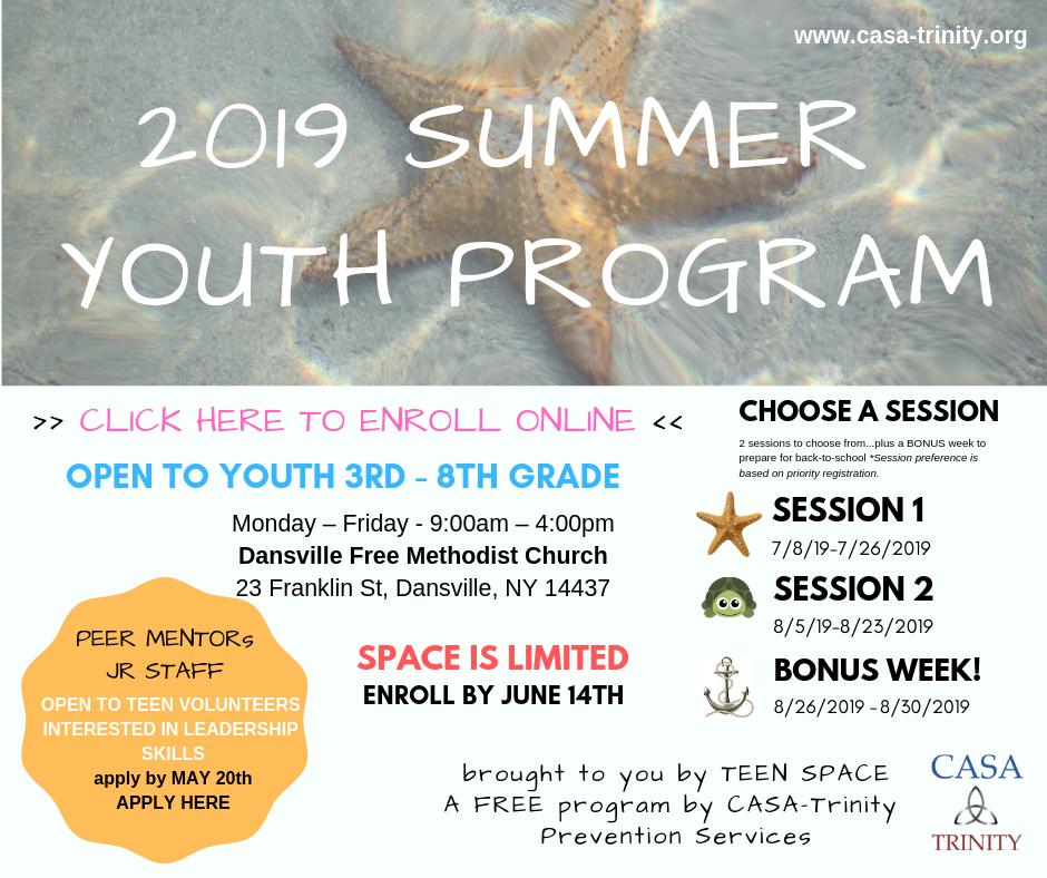 Summer Youth Program 3rd-8th Grades